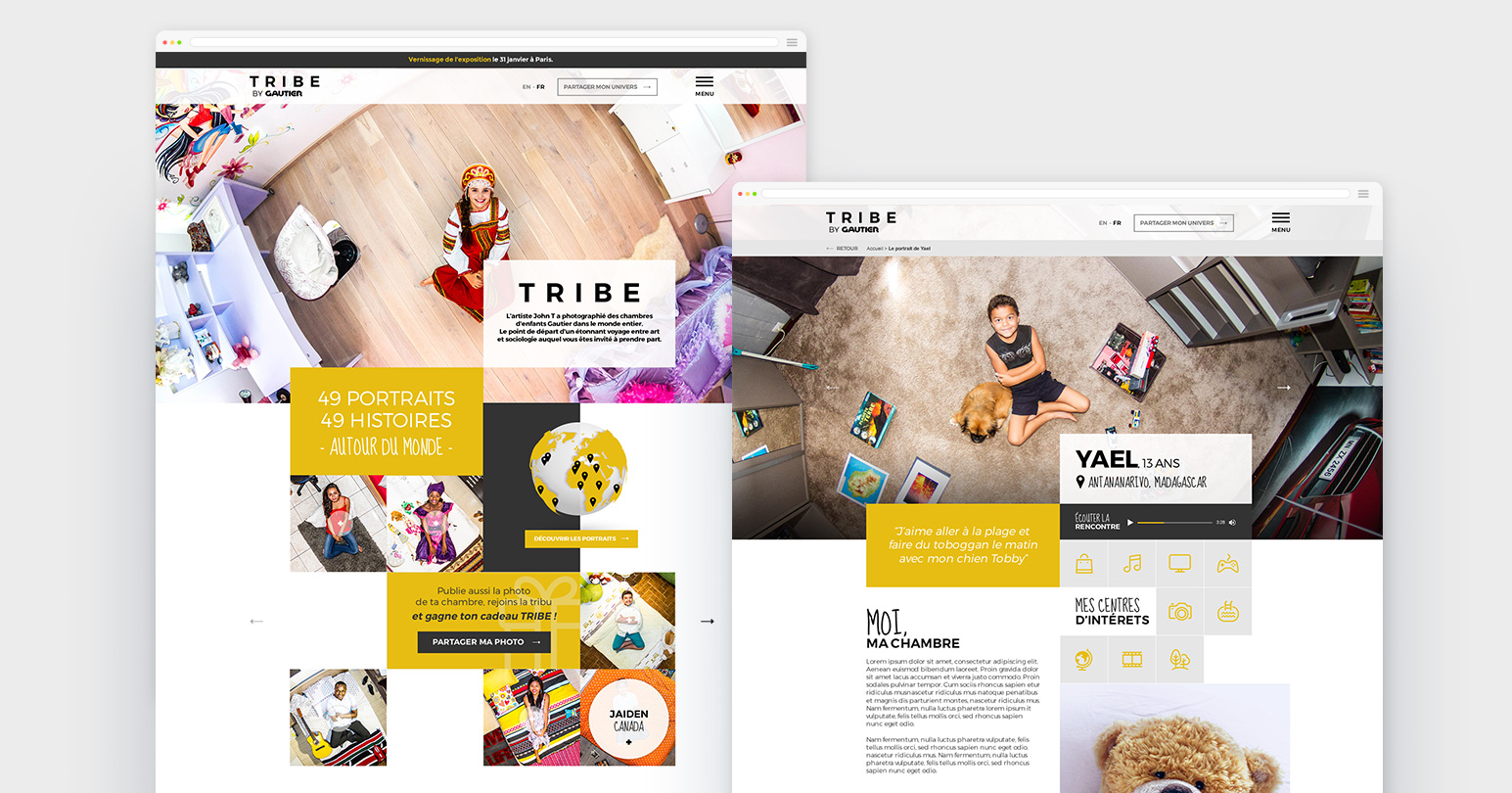 Création du site web TRIBE by Gautier